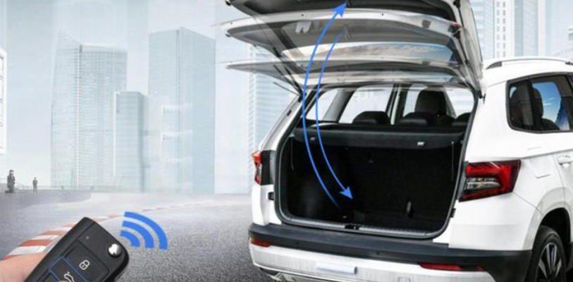 Электропривод двери багажника Škoda Karoq